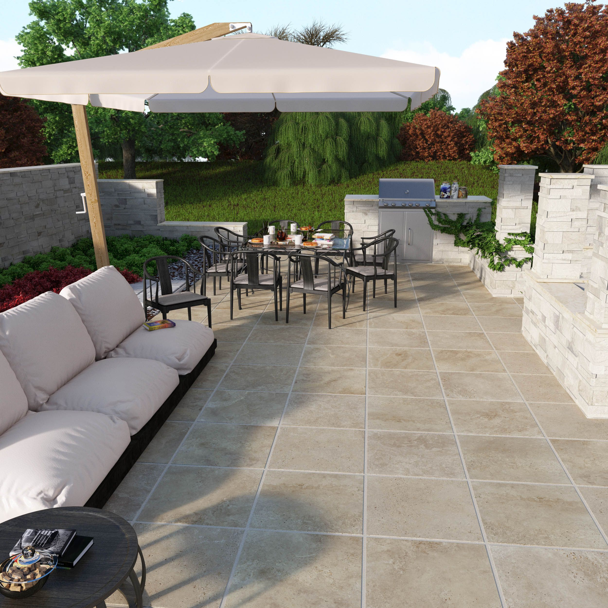 Best ideas about Outdoor Patio Tile . Save or Pin Sandset porcelain patio stones easy to install for a Now.