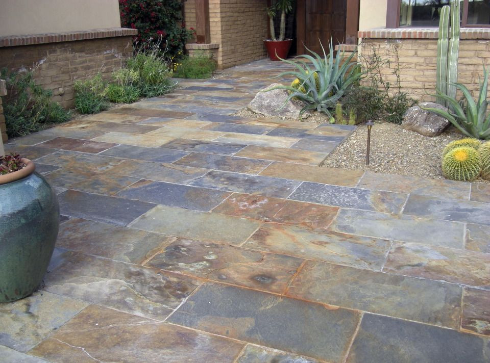 Best ideas about Outdoor Patio Tile . Save or Pin DECORACION DE SUELOS DE EXTERIOR CON PIZZARRA NEGRA piedra Now.