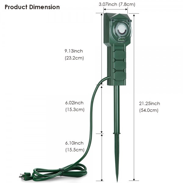 Best ideas about Outdoor Power Strips . Save or Pin BESTTEN Outdoor Power Stake with Timer 3 Outlet Power Now.