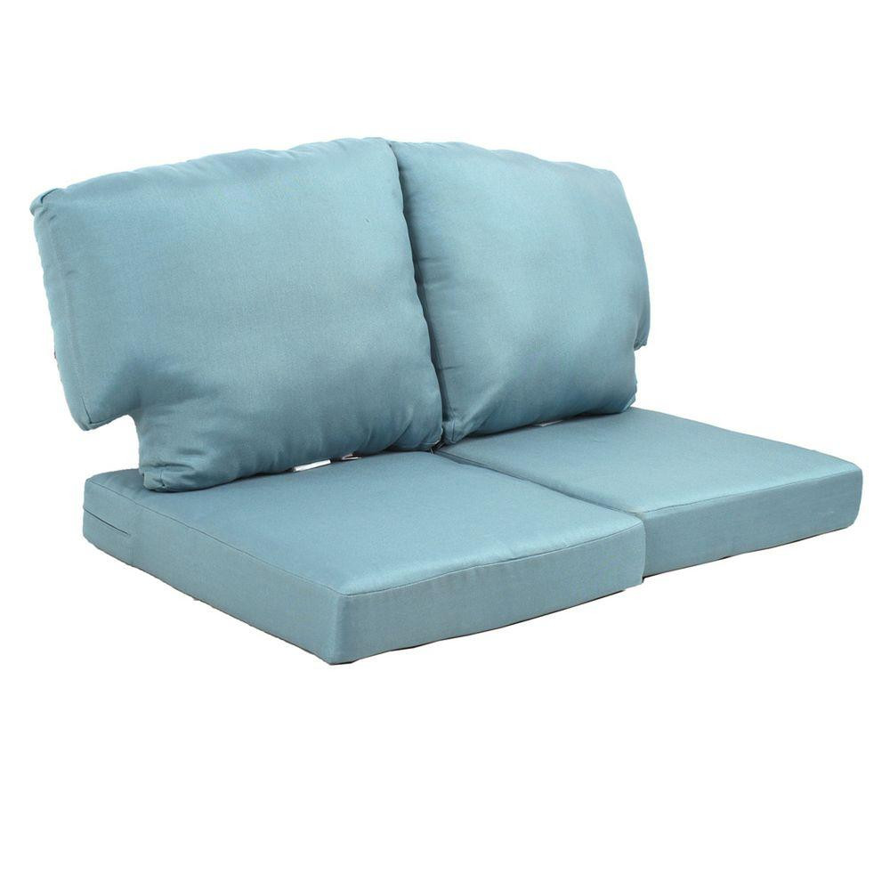 Best ideas about Outdoor Replacement Cushions . Save or Pin Martha Stewart Living Charlottetown Washed Blue Now.