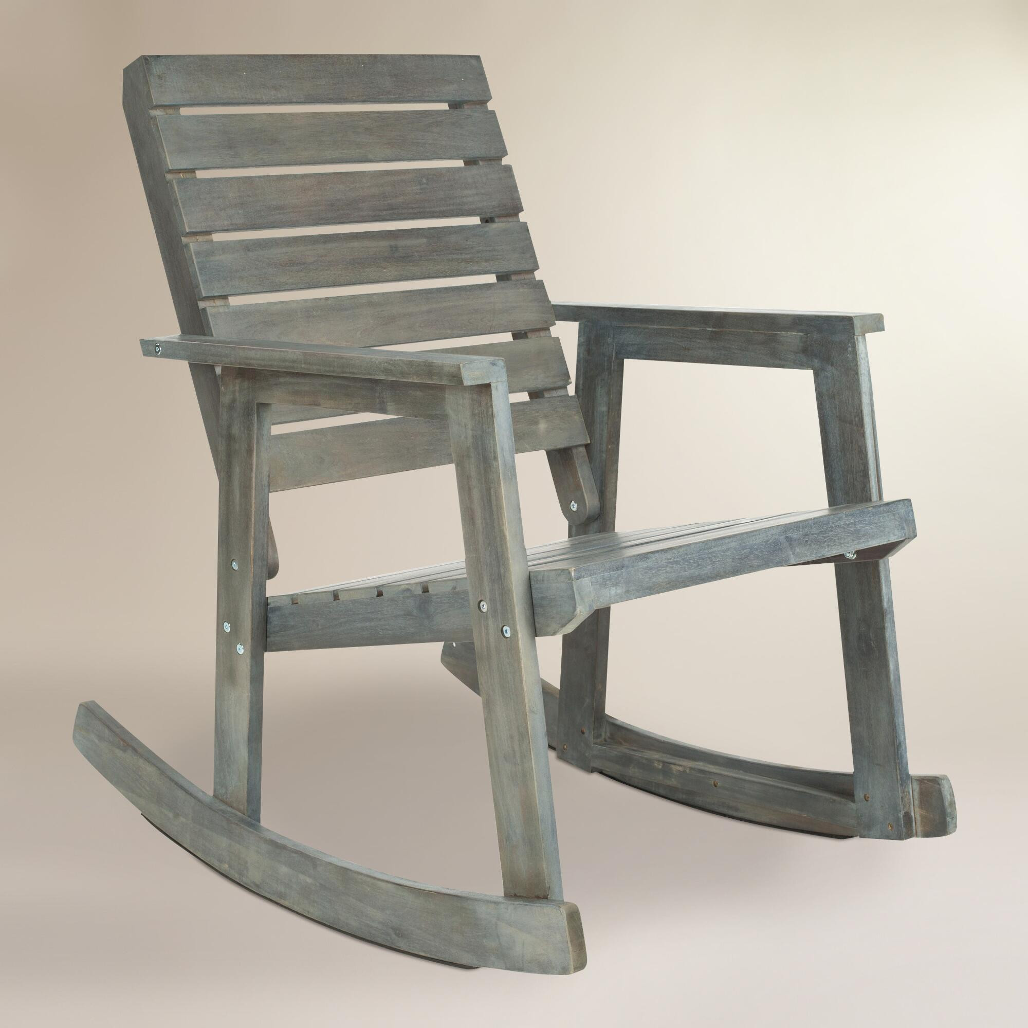 Best ideas about Outdoor Rocking Chairs . Save or Pin Ash Gray Wood Outdoor Rocking Chair Now.