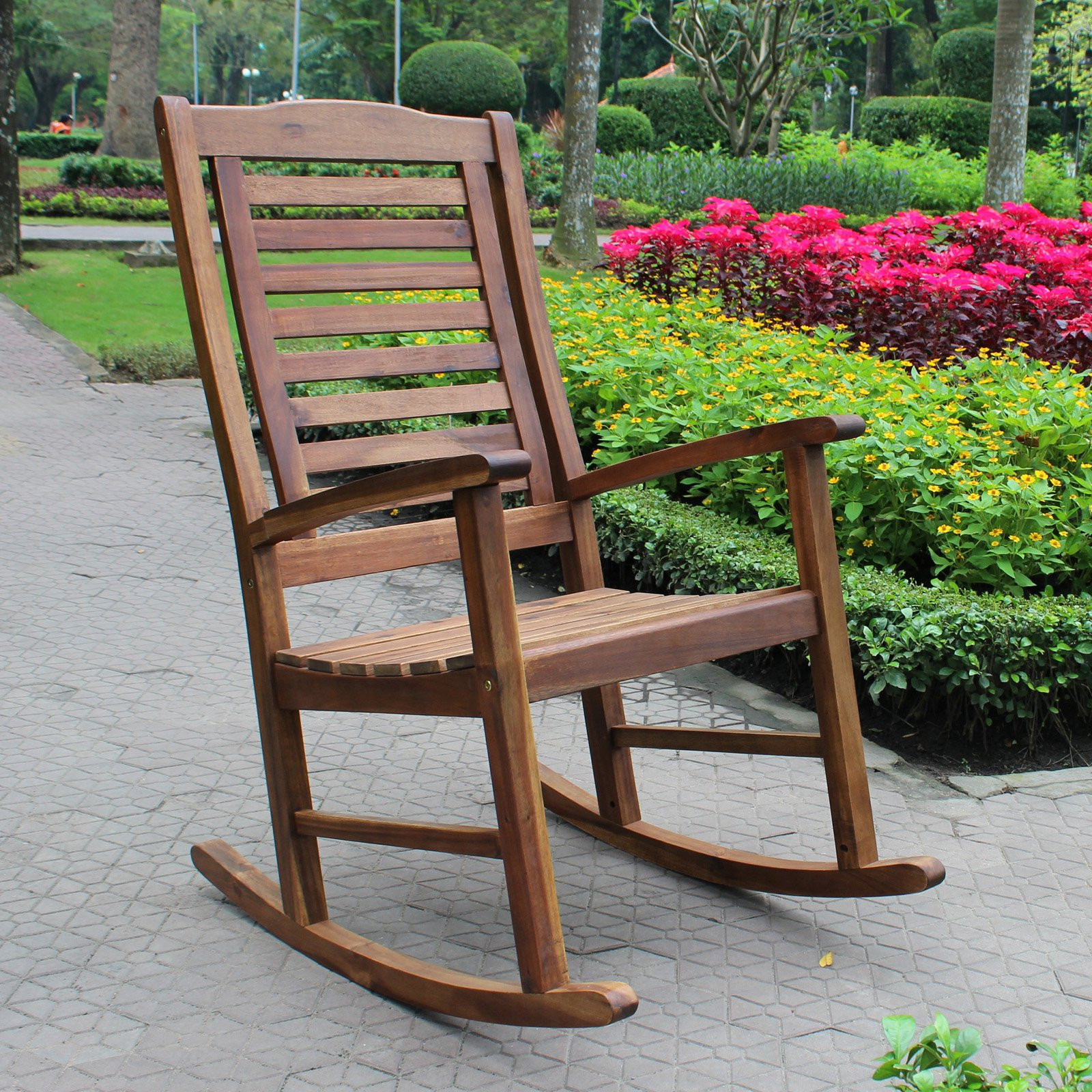 Best ideas about Outdoor Rocking Chairs . Save or Pin International Caravan Palmdale Acacia Contemporary Outdoor Now.