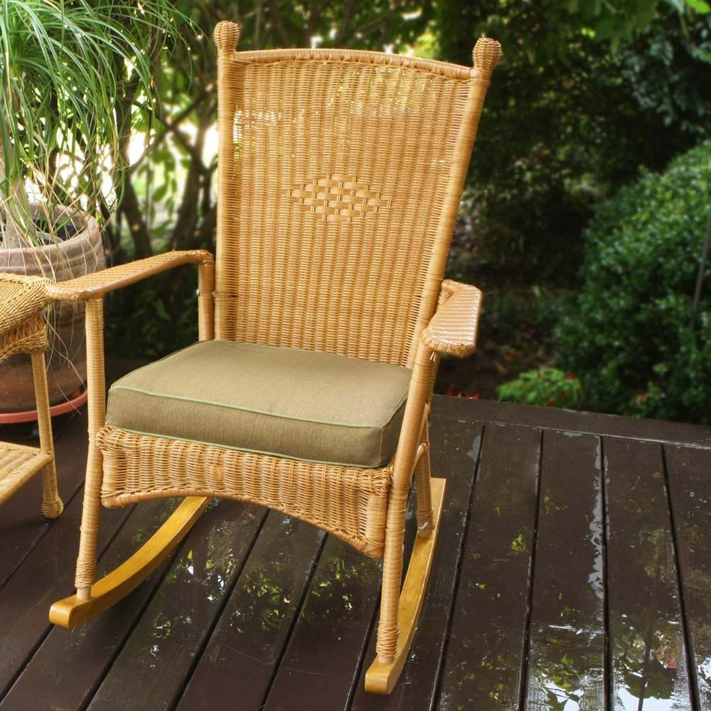 Best ideas about Outdoor Rocking Chairs . Save or Pin Tortuga Outdoor Portside Classic Wicker Rocking Chair Now.