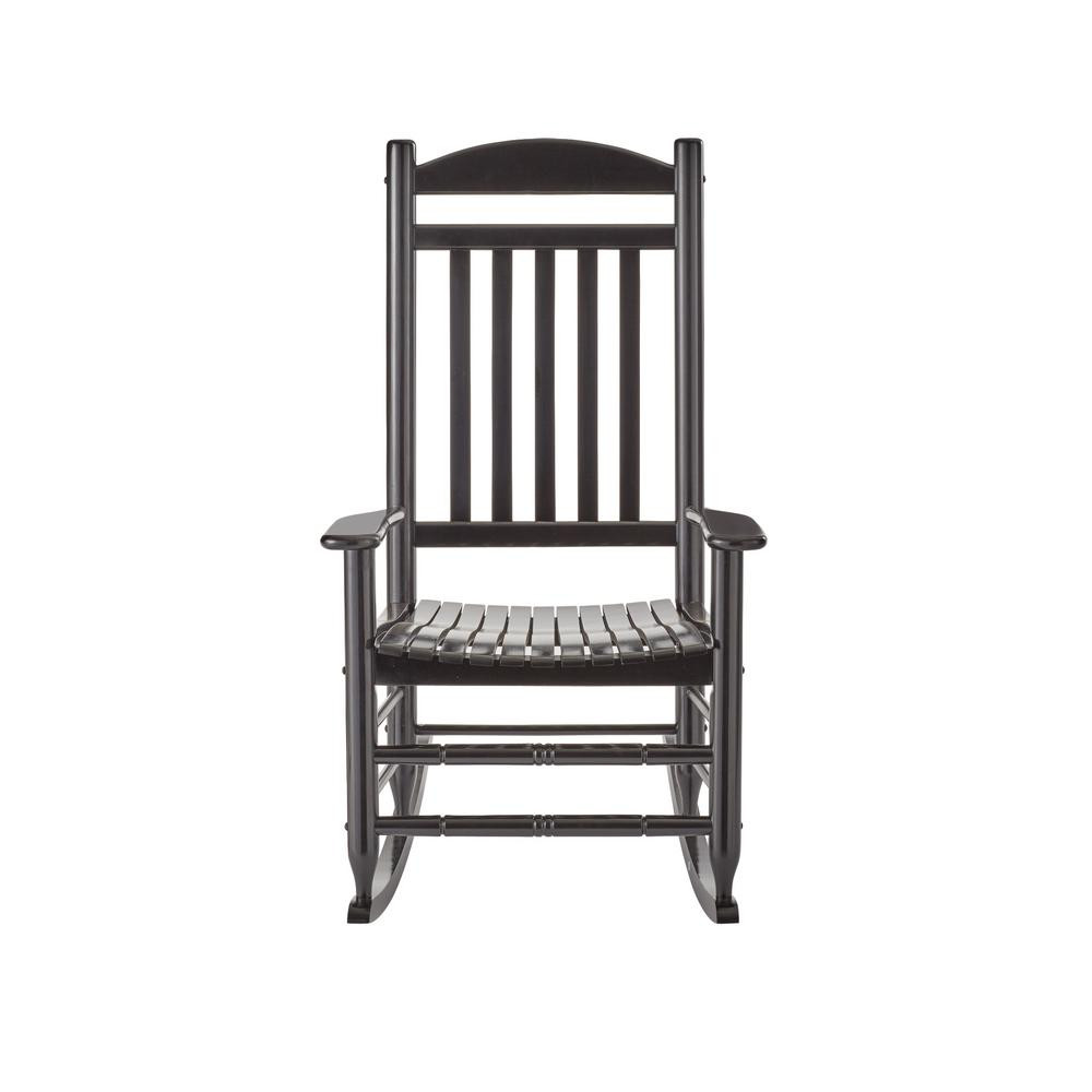 Best ideas about Outdoor Rocking Chairs . Save or Pin Black Wood Outdoor Rocking Chair IT B The Home Depot Now.