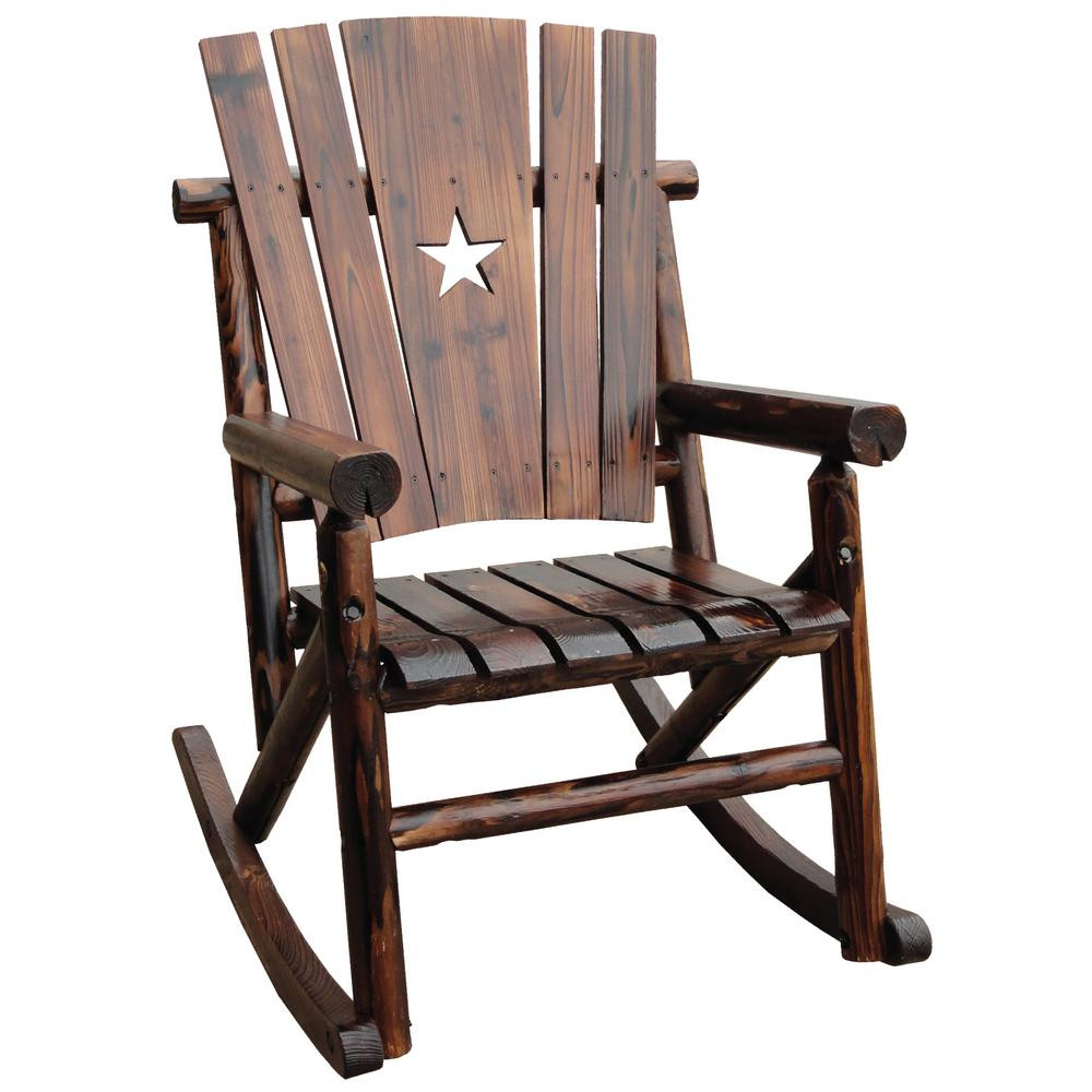 Best ideas about Outdoor Rocking Chairs . Save or Pin Leigh Country Char Log Patio Rocking Chair With Star TX Now.