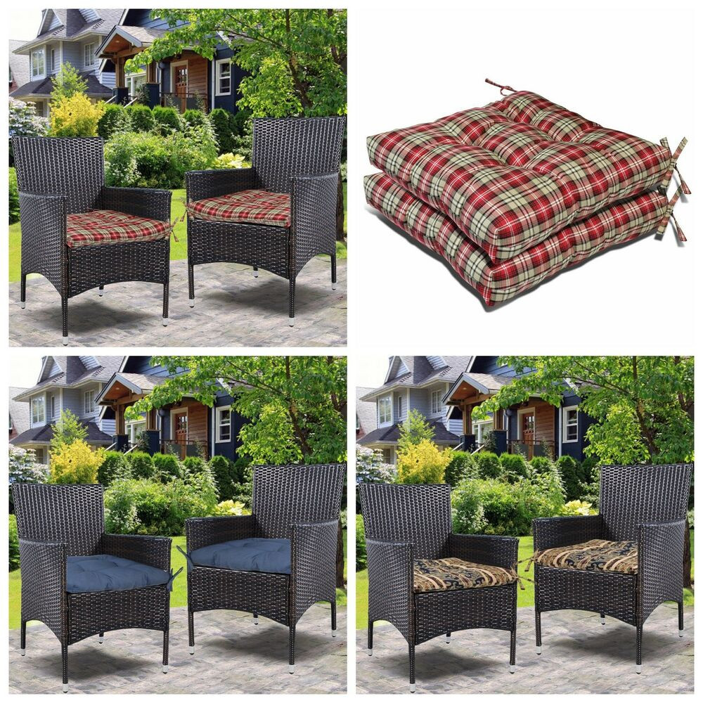 Best ideas about Outdoor Seat Cushions . Save or Pin Set 2 2Pc fice Dining Room Garden Chair Seat Cushion Now.