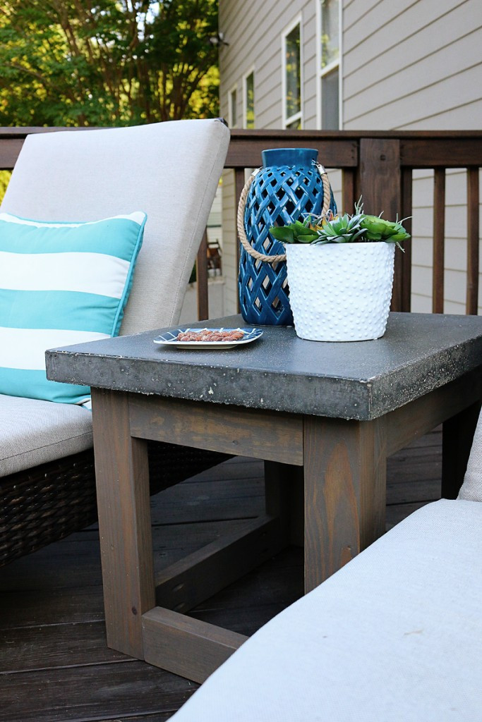 Best ideas about Outdoor Side Table Ideas . Save or Pin Concrete & Wood Outdoor Side Table Bower Power Now.