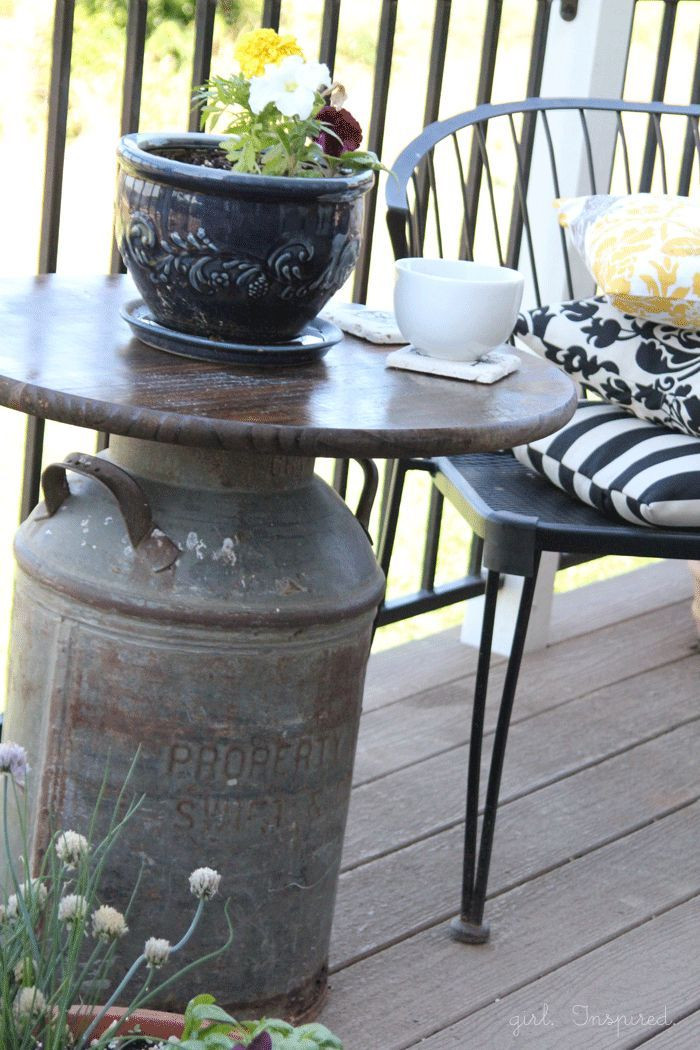 Best ideas about Outdoor Side Table Ideas . Save or Pin DIY Outdoor Table Ideas for Garden Improvement Now.
