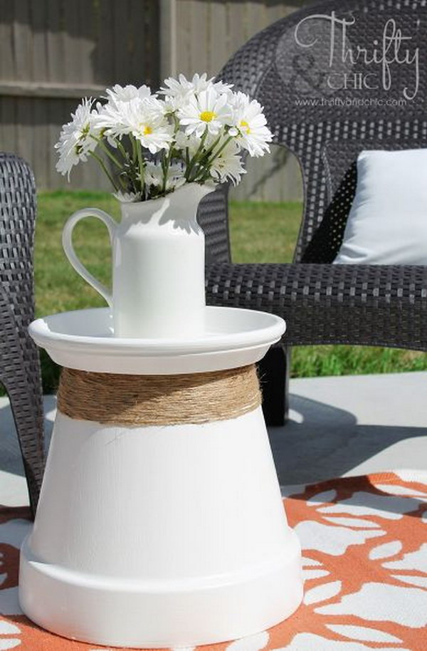 Best ideas about Outdoor Side Table Ideas . Save or Pin 25 DIY Side Table Ideas With Lots of Tutorials 2017 Now.
