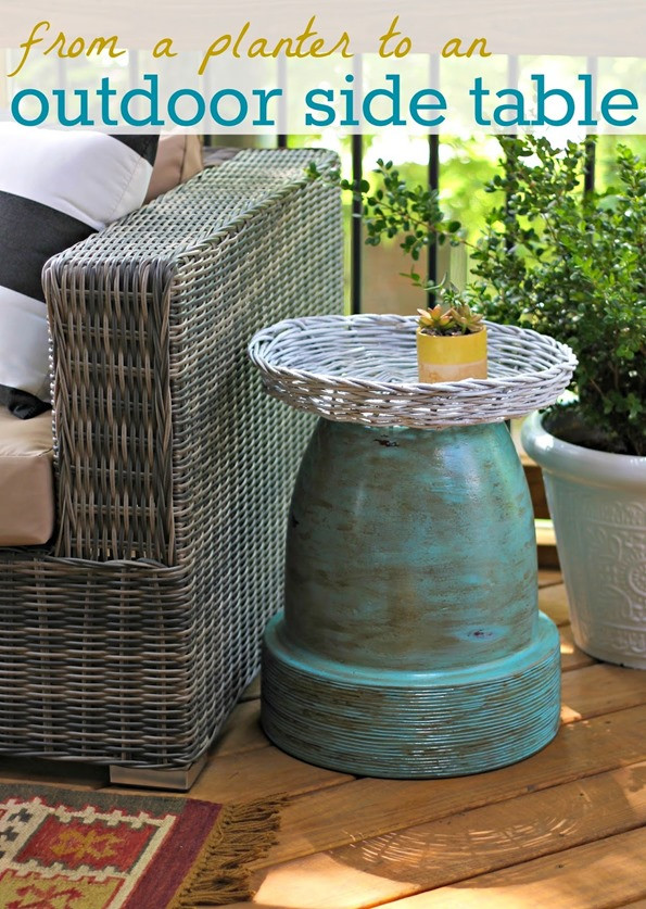 Best ideas about Outdoor Side Table Ideas . Save or Pin Planter to Outdoor Side Table Now.