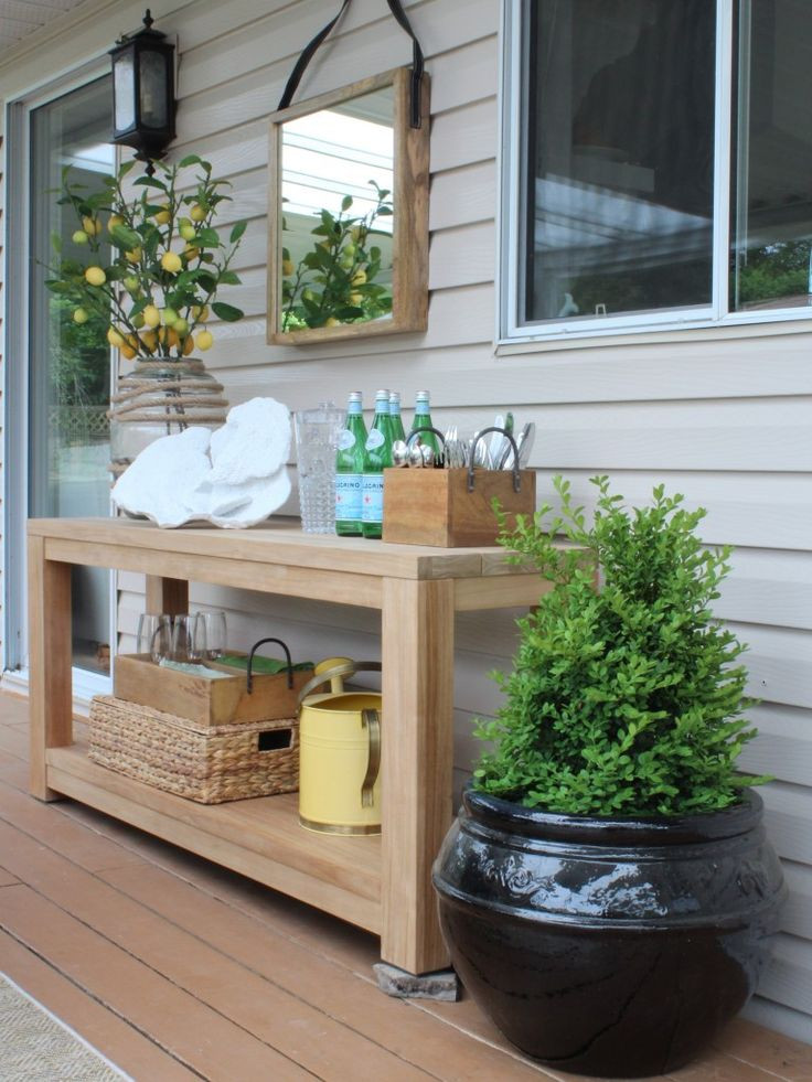 Best ideas about Outdoor Side Table Ideas . Save or Pin Best 25 Outdoor console table ideas on Pinterest Now.