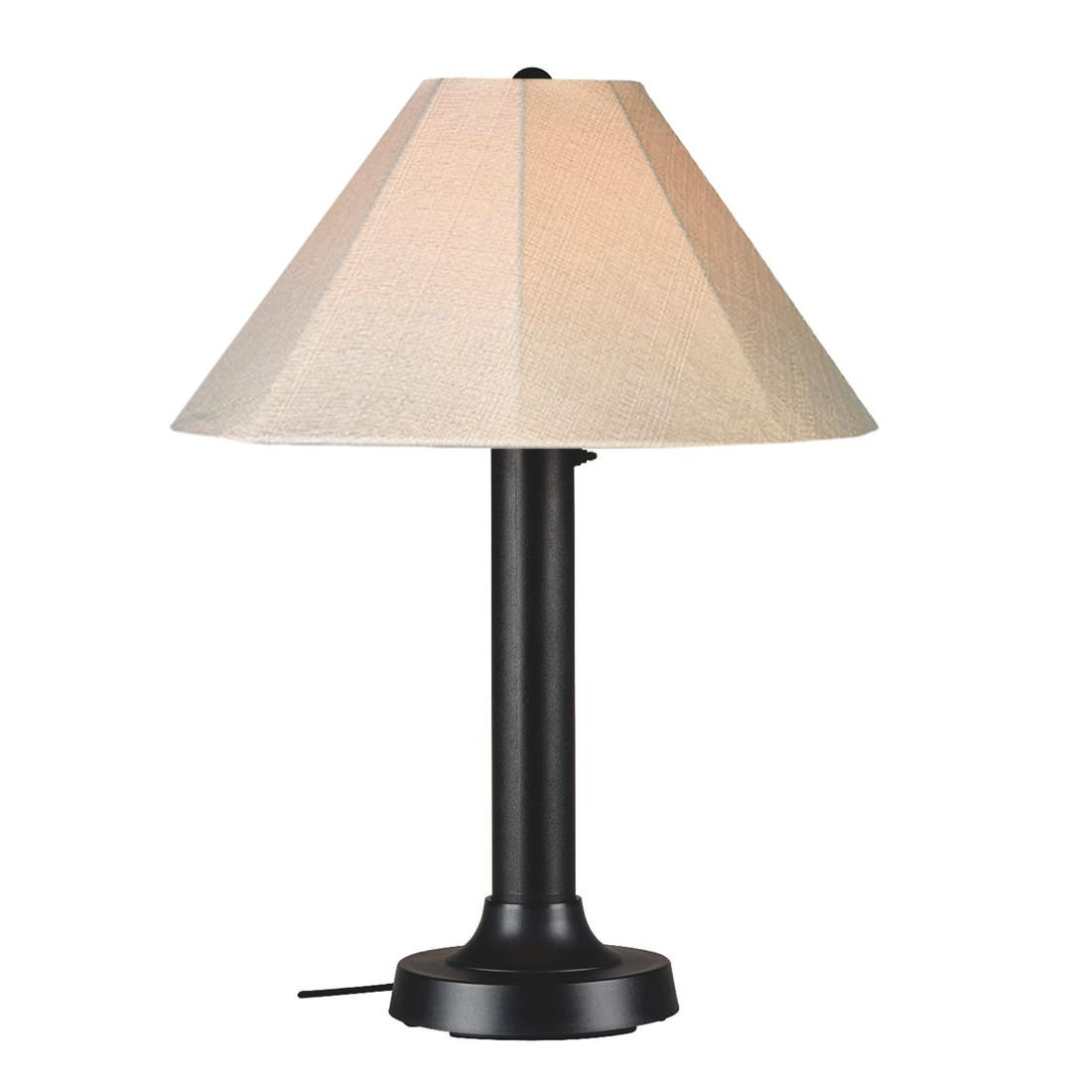 Best ideas about Outdoor Table Lamps . Save or Pin Outdoor Table Lamp 610 with Black Body and Sunbrella Now.