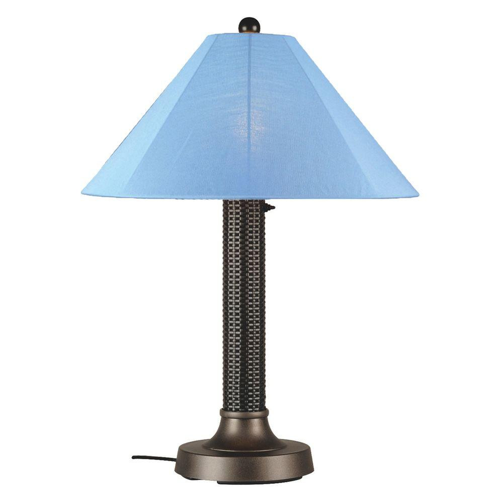 Best ideas about Outdoor Table Lamps . Save or Pin Patio Living Concepts Bahama Weave 34 in Dark Mahogany Now.