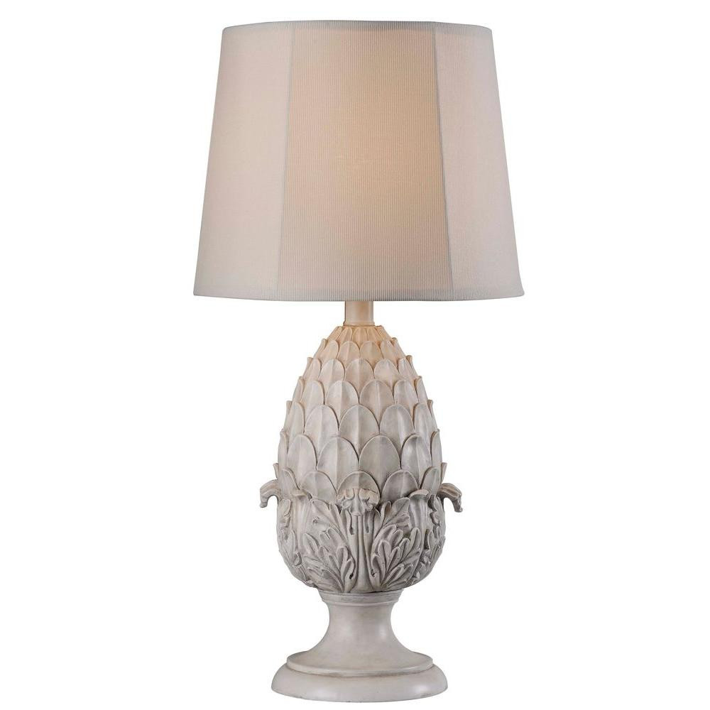Best ideas about Outdoor Table Lamps . Save or Pin Kenroy Home Artichoke 30 in H Roman White Outdoor Table Now.