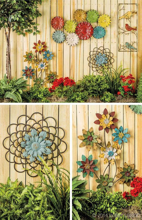 Best ideas about Outdoor Wall Art . Save or Pin Truly Easy and Low bud DIY Garden Art Flowers Now.