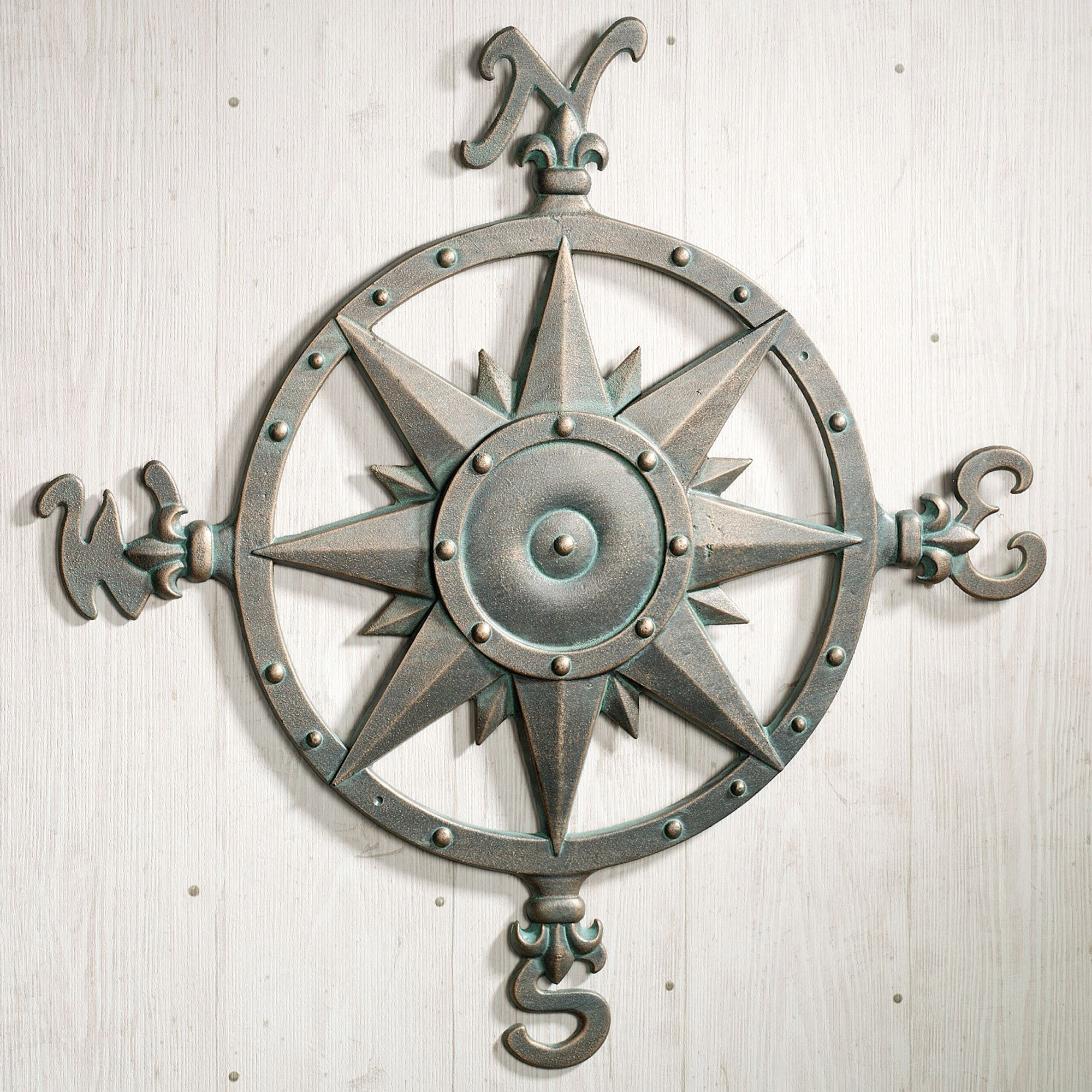 Best ideas about Outdoor Wall Art . Save or Pin Indoor Outdoor Nautical pass Metal Wall Art Now.
