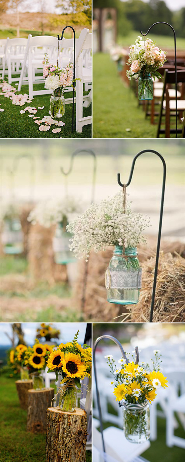 Best ideas about Outdoor Wedding Decorations . Save or Pin Rustic Wedding Ideas 30 Ways To Use Mason Jars Now.