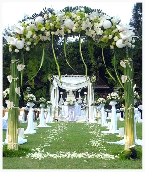 Best ideas about Outdoor Wedding Decorations . Save or Pin 43 Best Outdoor Wedding Entrance Ideas Pink Lover Now.