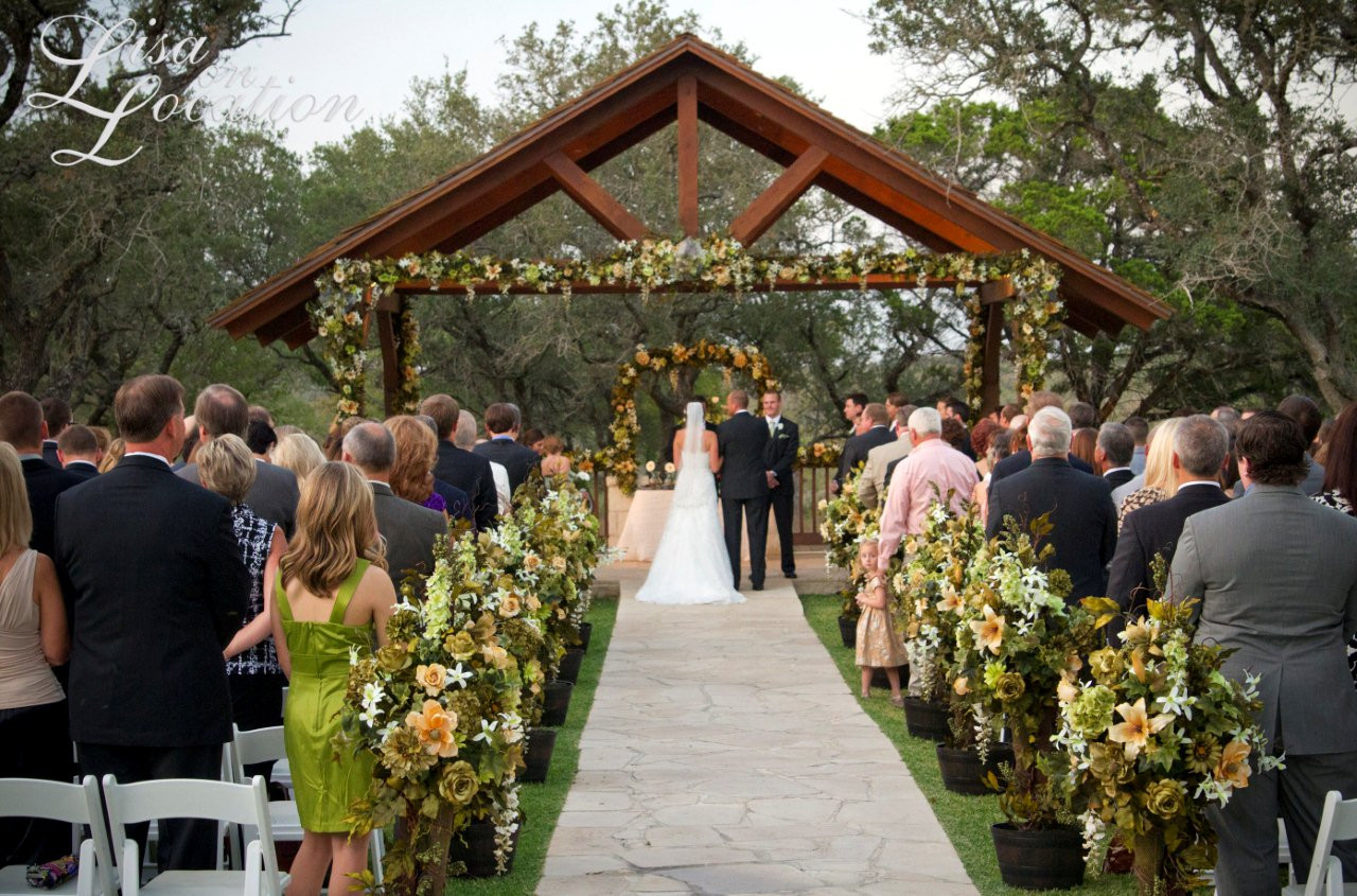Best ideas about Outdoor Wedding Venues . Save or Pin Elegant Outdoor Wedding Ceremony Site near San Antonio Now.