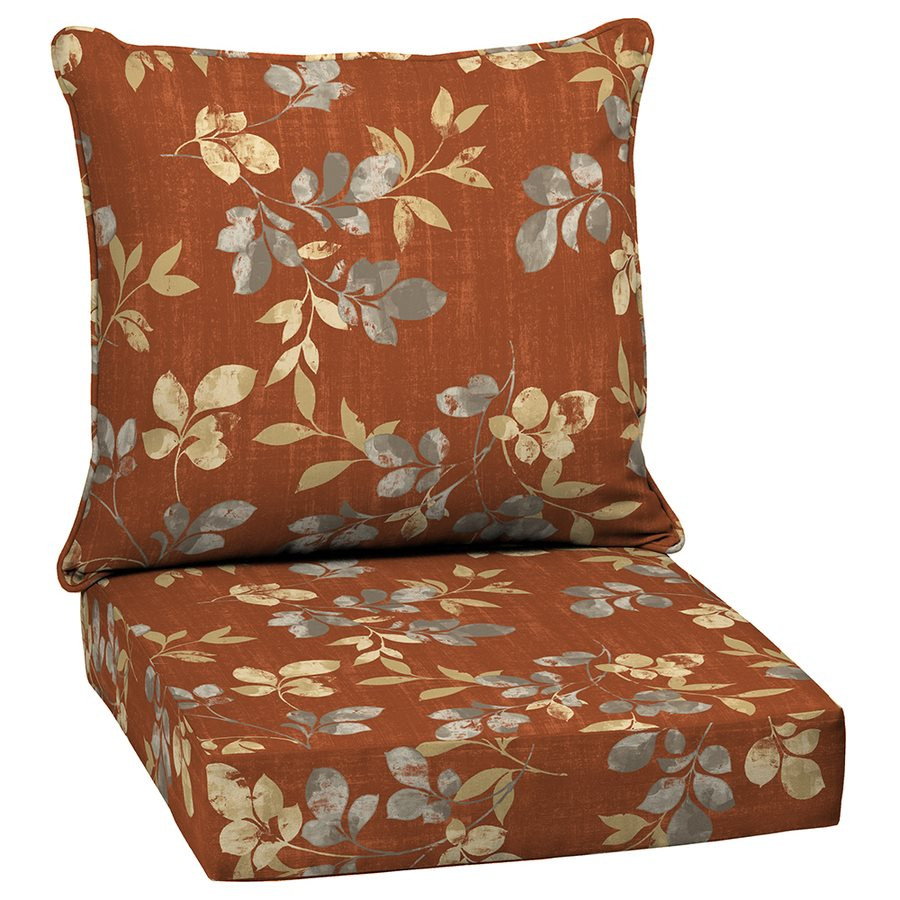Best ideas about Outside Chair Cushions . Save or Pin Garden Treasures Terrace Leaves 2 Piece Deep Seating Patio Now.