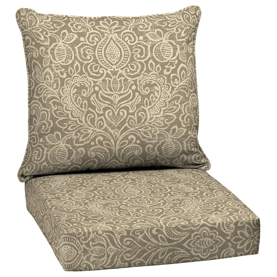 Best ideas about Outside Chair Cushions . Save or Pin Garden Treasures Neutral Stencil 2 Piece Deep Seating Now.
