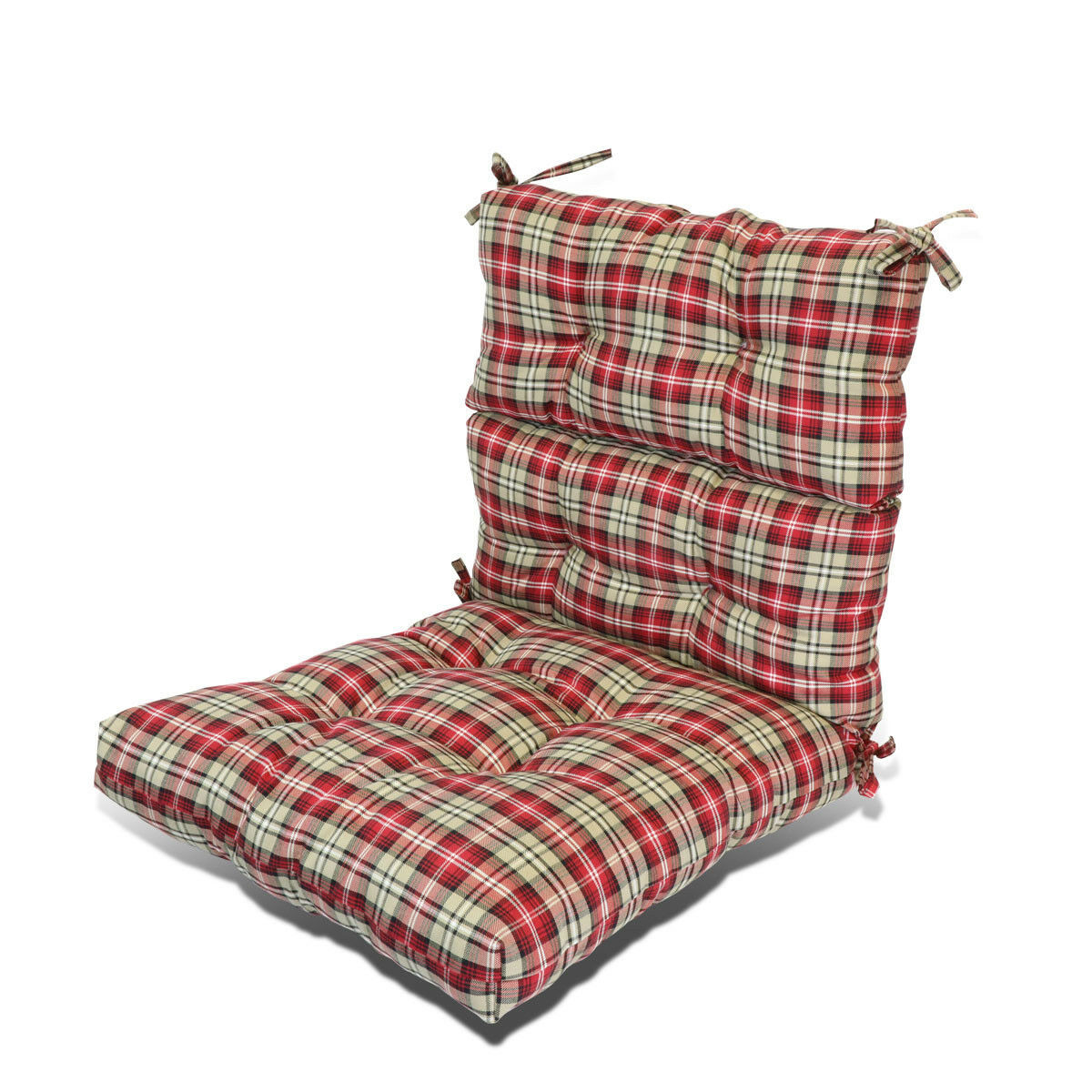 "Best ideas about Outside Chair Cushions . Save or Pin 3"" Thick Patio Garden Dining Seat Back Chair Cushion Seat Now."