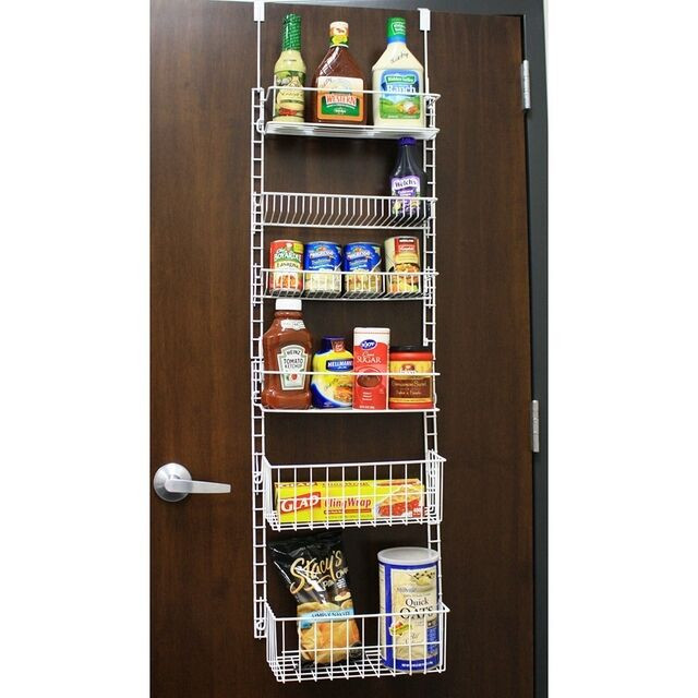 Best ideas about Over The Door Pantry Organizer . Save or Pin Over the Door Storage Rack w Adjustable Shelves Now.