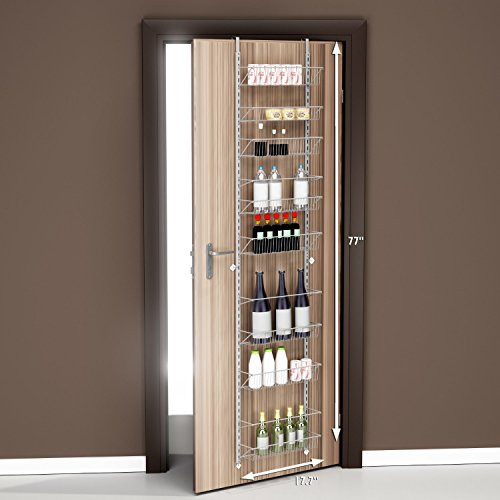 Best ideas about Over The Door Pantry Organizer . Save or Pin Home plete Spice Racks Pantry Over The Door And Jar Now.