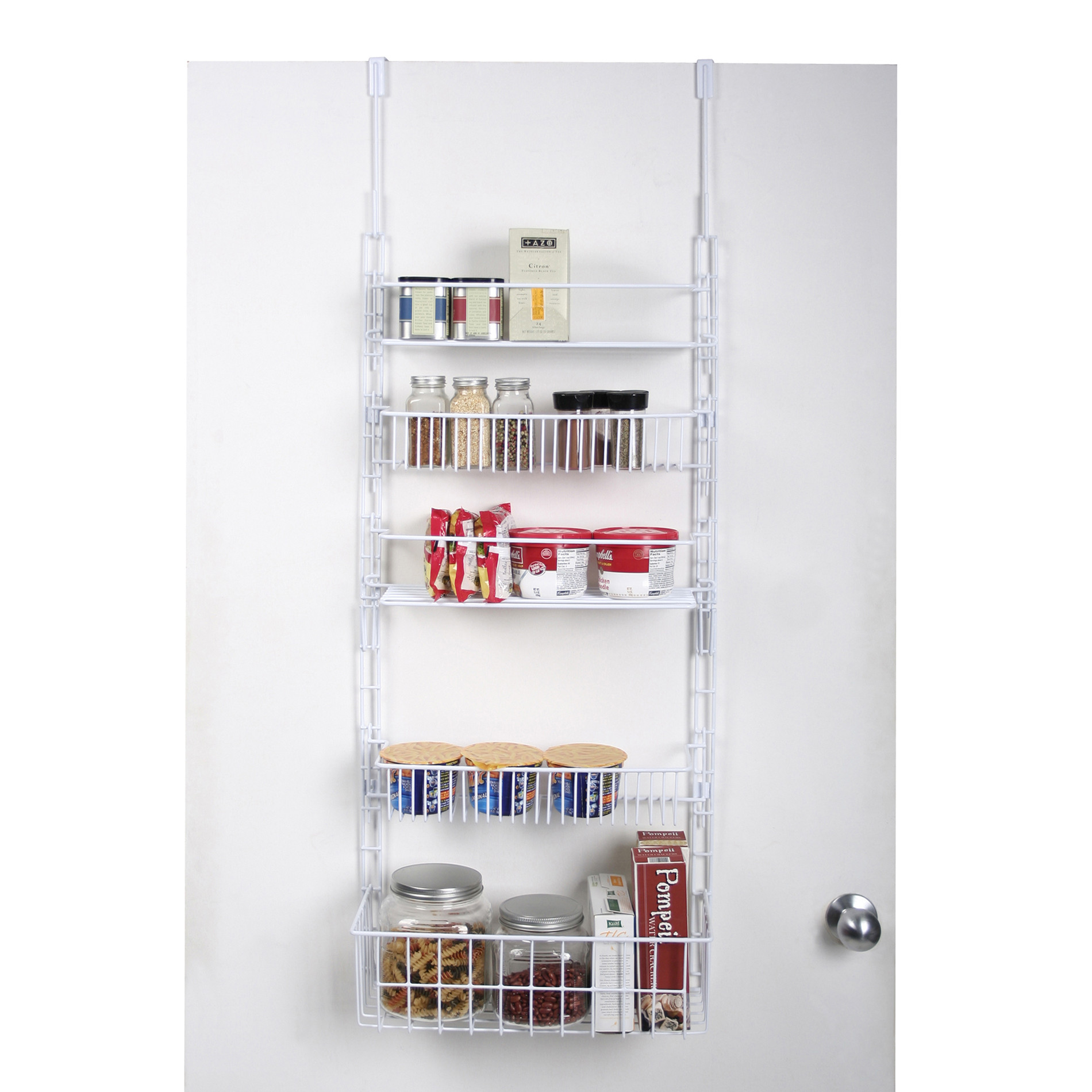 Best ideas about Over The Door Pantry Organizer . Save or Pin Essential Home Over The Door Pantry Organizer White Now.