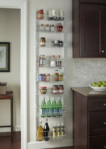 """Best ideas about Over The Door Pantry Organizer . Save or Pin Adjustable 18"""" Closet Organizer 8 Tier Wall And Over The Now."""