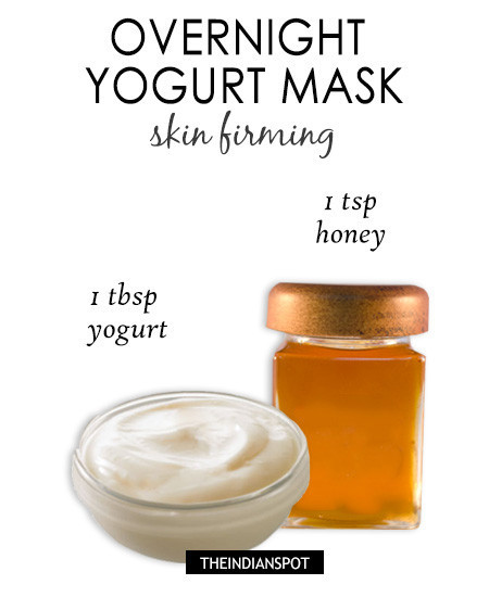 Best ideas about Overnight Face Mask DIY . Save or Pin Overnight yogurt mask for glowing skin Now.