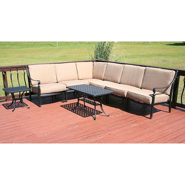 Best ideas about Overstock Patio Furniture . Save or Pin Savannah Classics Madrid Outdoor Black Aluminum Patio Now.