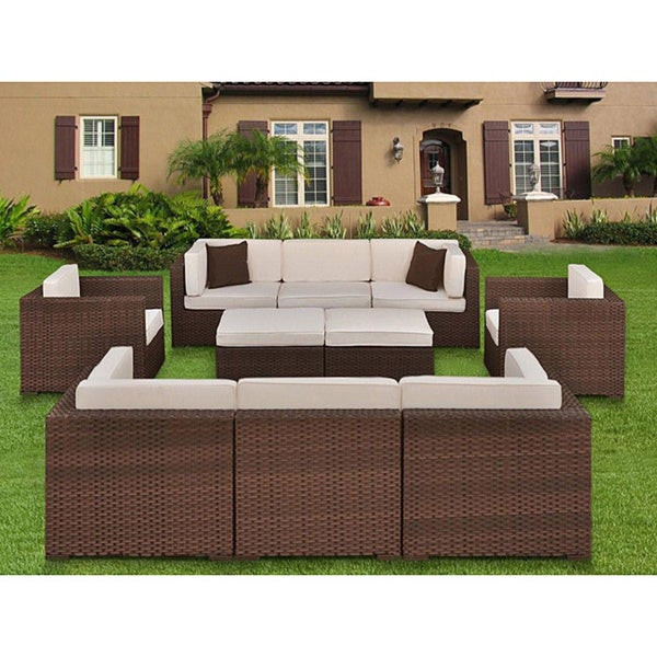 Best ideas about Overstock Patio Furniture . Save or Pin Atlantic Milano 10 piece Patio Furniture Set Overstock Now.