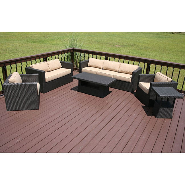 Best ideas about Overstock Patio Furniture . Save or Pin Faroe 6 piece All weather Wicker Patio Furniture Set Now.