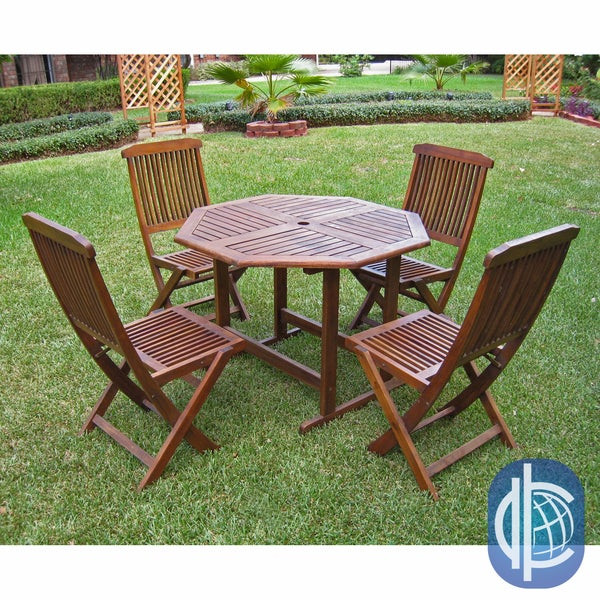 Best ideas about Overstock Patio Furniture . Save or Pin International Caravan Acacia 5 piece Stowaway Patio Now.