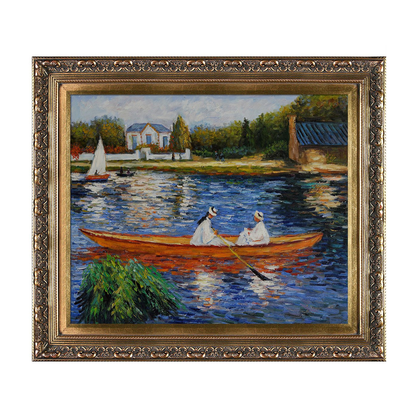 Best ideas about Overstock Wall Art . Save or Pin Overstock Art RN826 FR X24 Renoir Boating on the Now.