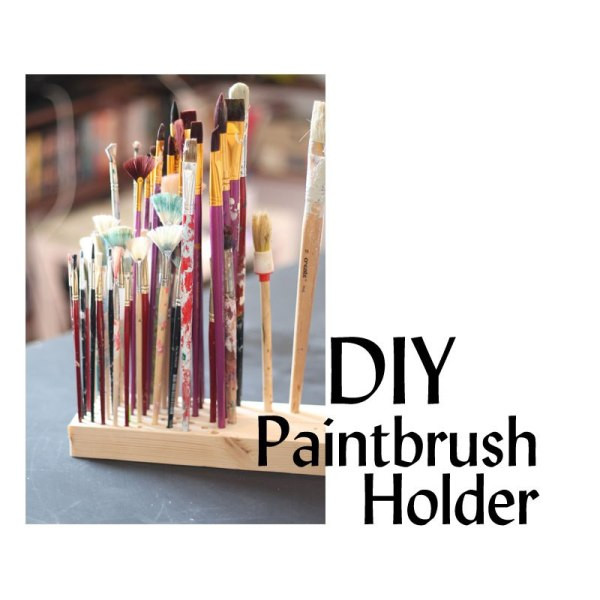Best ideas about Paint Brush Holder DIY . Save or Pin DIY Paintbrush Holder Now.