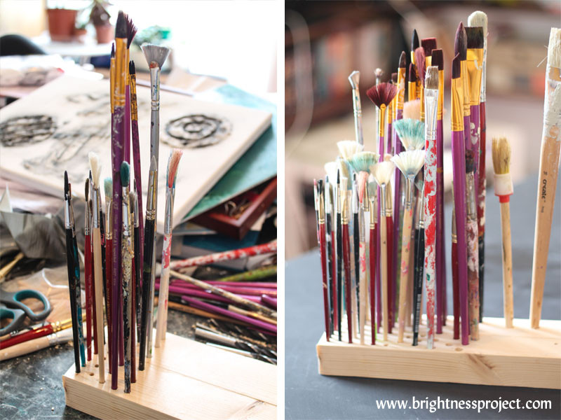 Best ideas about Paint Brush Holder DIY . Save or Pin DIY Paint Brush Holder Now.