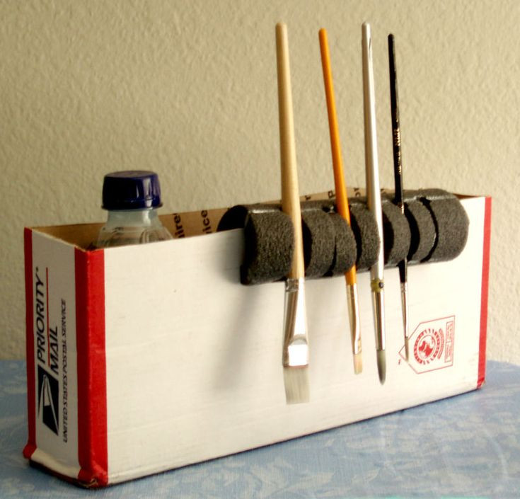 Best ideas about Paint Brush Holder DIY . Save or Pin Best 20 Cardboard Box Storage ideas on Pinterest Now.