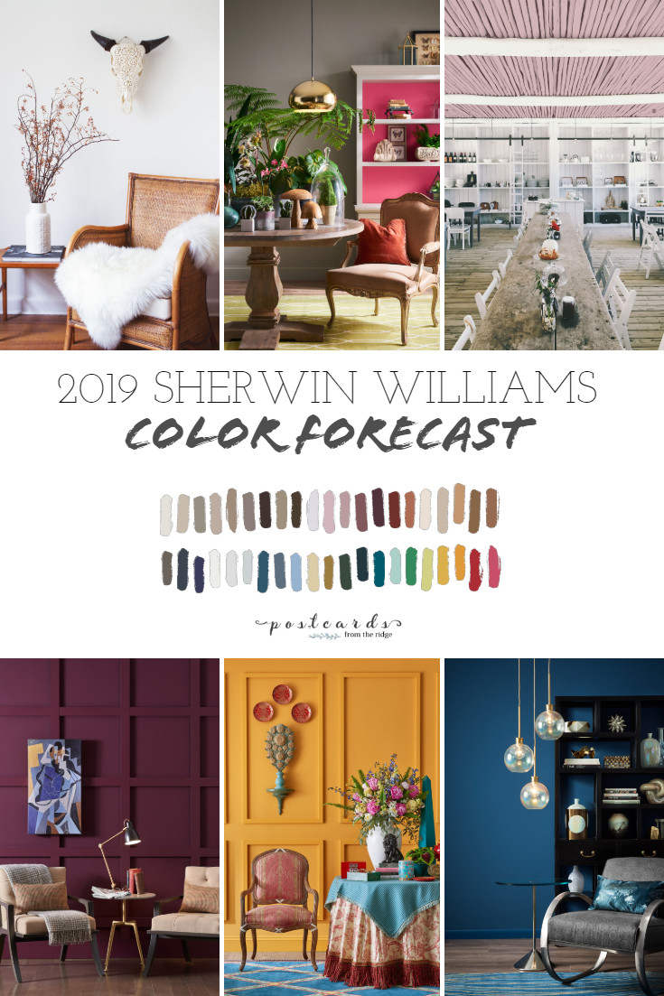 Best ideas about Paint Colors For 2019 . Save or Pin 2019 Paint Color Forecast from Sherwin Williams Now.