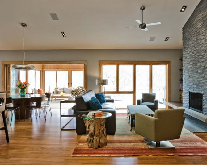 Best ideas about Paint Colors With Oak Trim . Save or Pin From Houzz Living room Pinterest Now.