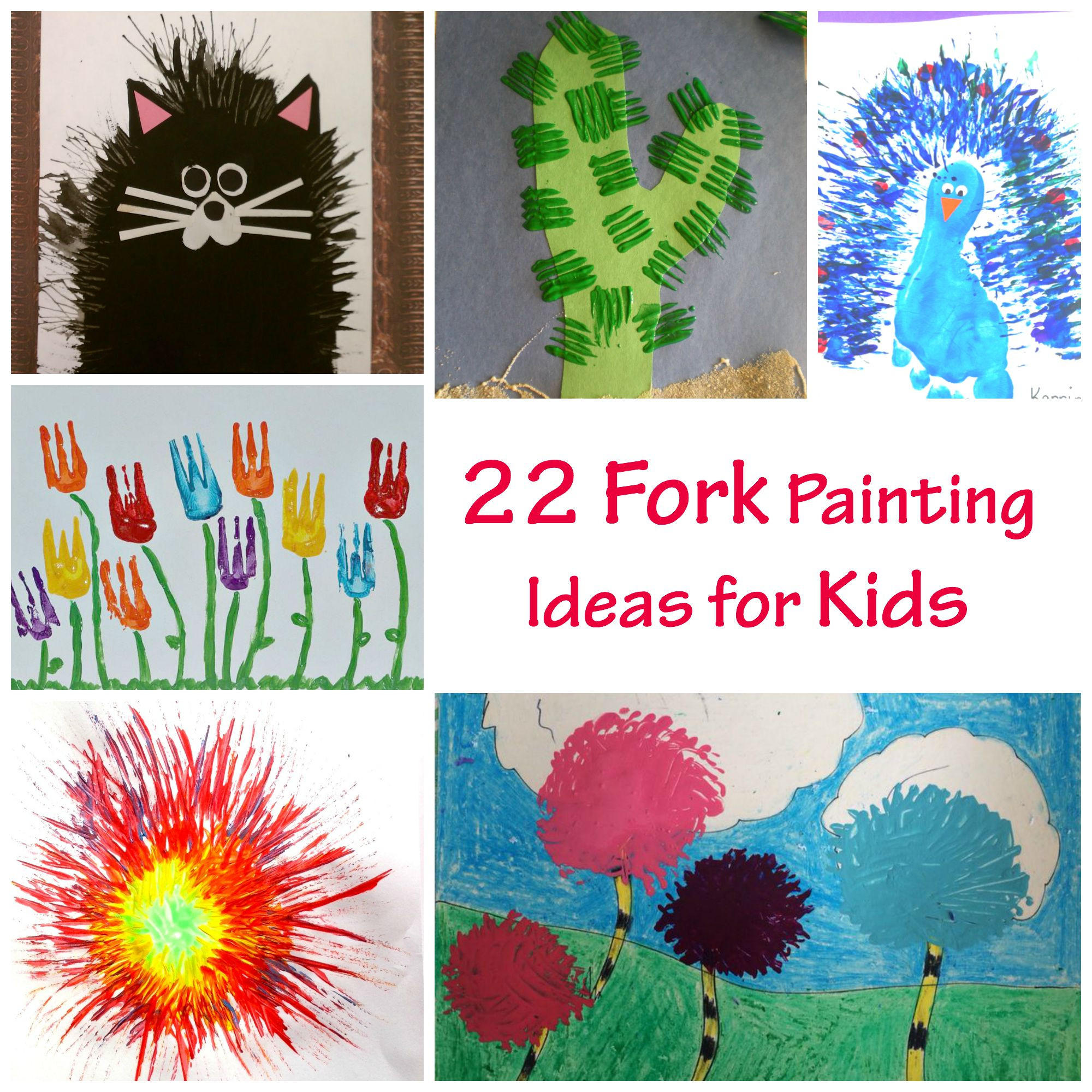 Best ideas about Paint Ideas For Toddlers . Save or Pin 22 Fork Painting Ideas for Kids PELITABANGSA CA Now.