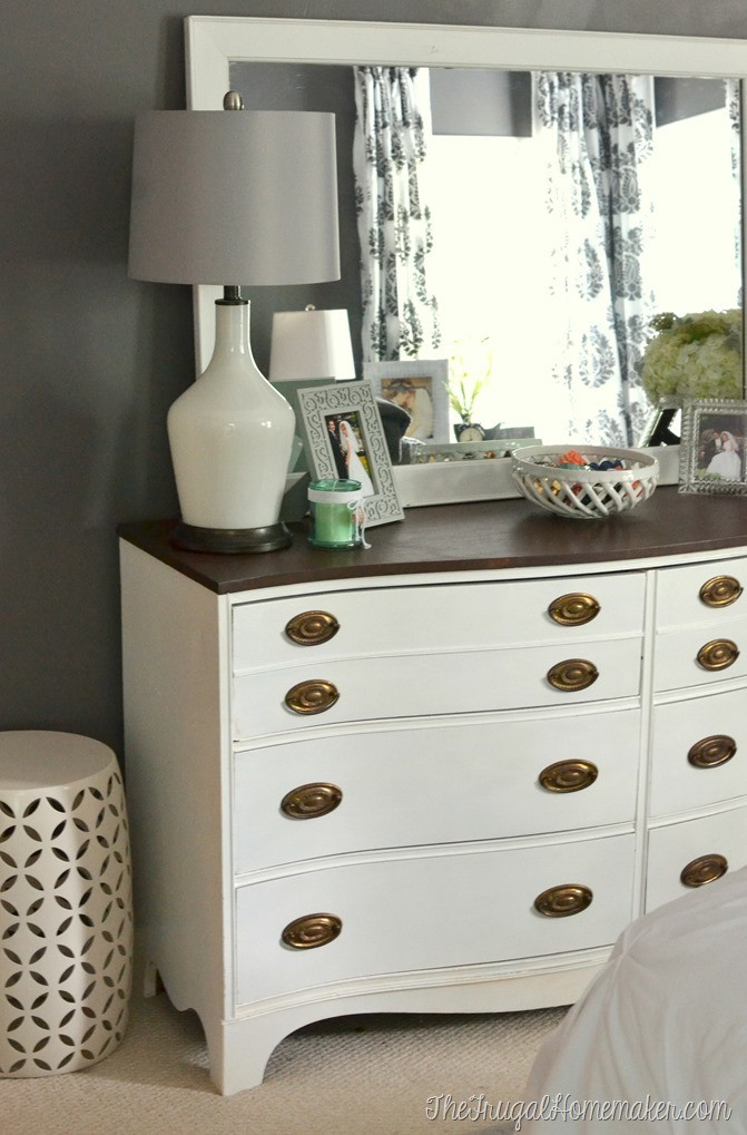 Best ideas about Painted Bedroom Furniture Ideas . Save or Pin Painted Dresser and Mirror makeover Master Bedroom furniture Now.