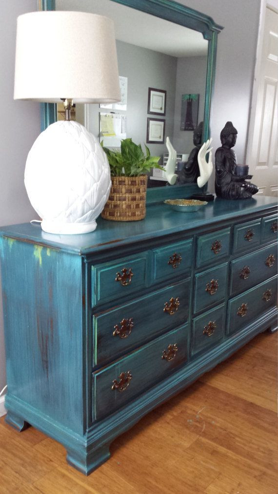 Best ideas about Painted Bedroom Furniture Ideas . Save or Pin 25 best ideas about Teal dresser on Pinterest Now.