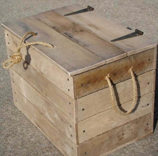 Best ideas about Pallet Boxes DIY . Save or Pin DIY Cool Pallet Box Storage Now.