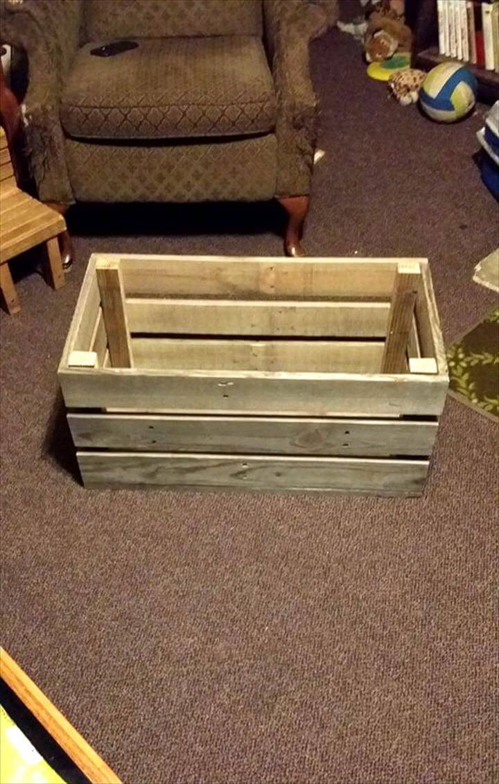 Best ideas about Pallet Boxes DIY . Save or Pin Easy & Simple Wood Pallet Toy Box Easy Pallet Ideas Now.
