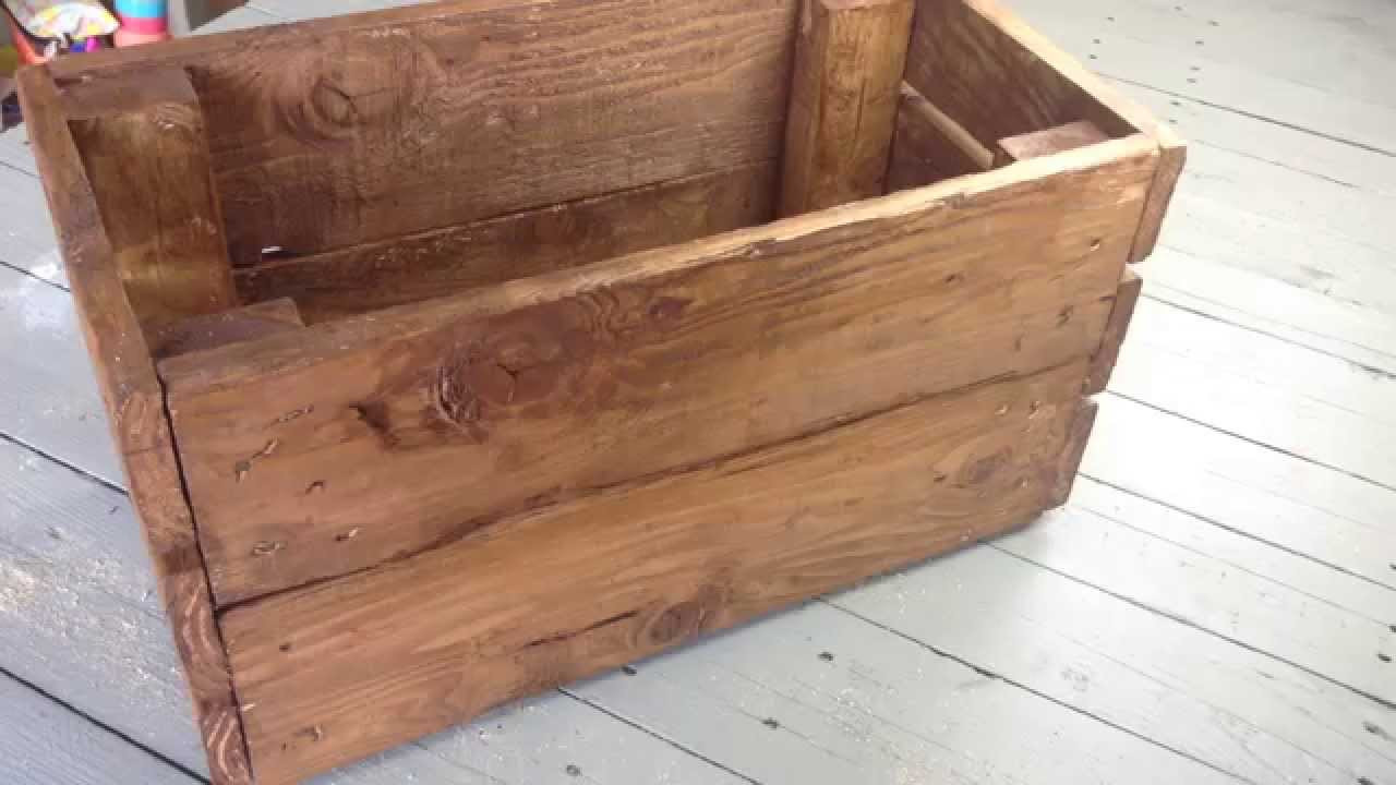 Best ideas about Pallet Boxes DIY . Save or Pin DIY Pallet Box Now.