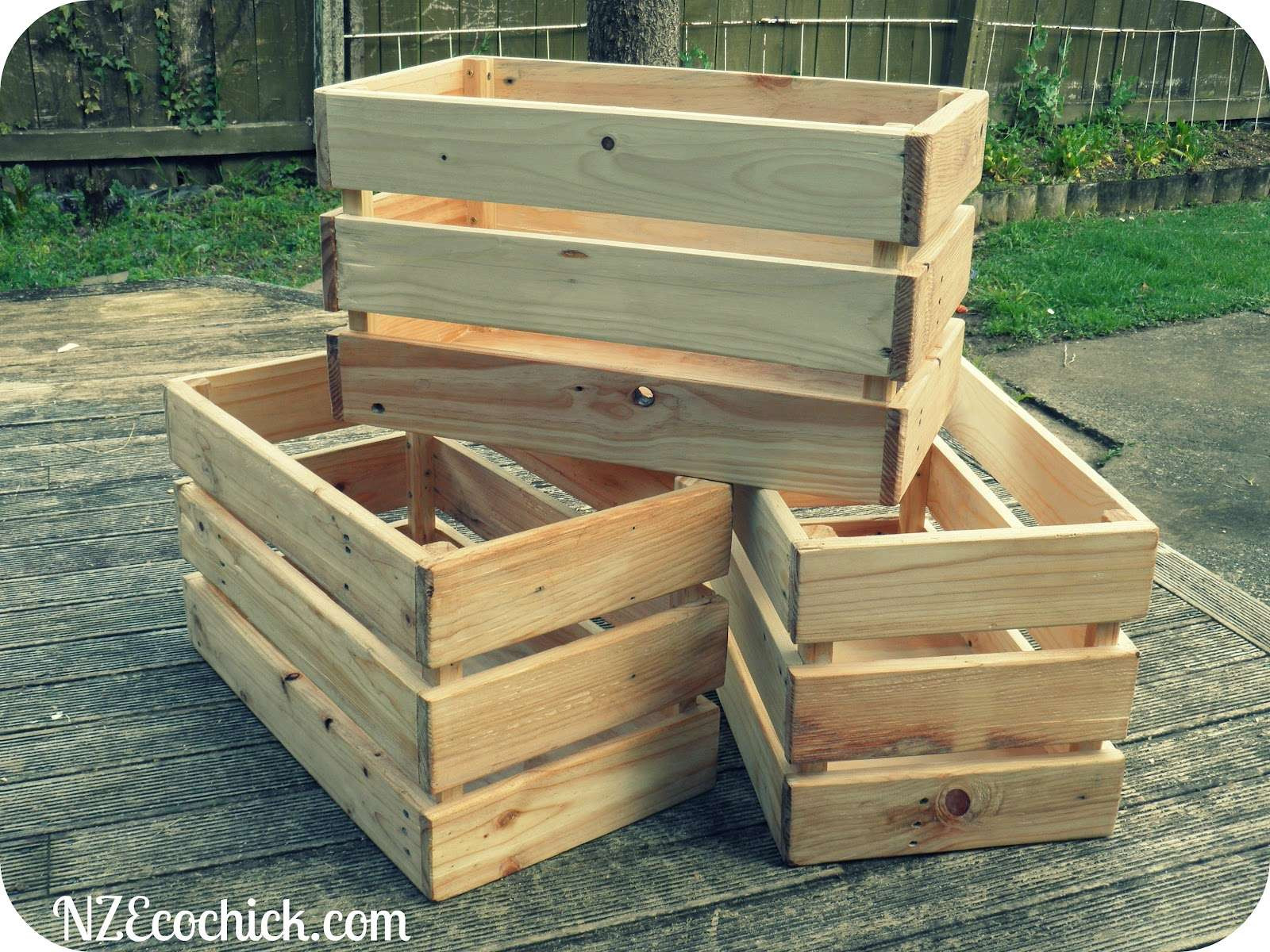 Best ideas about Pallet Boxes DIY . Save or Pin Pallet crates NZ Ecochick Now.