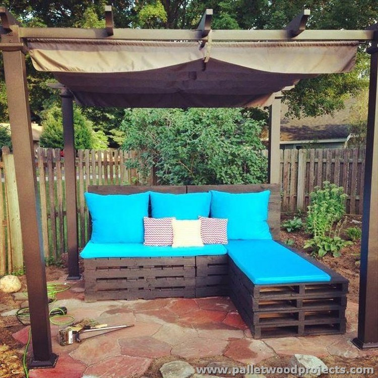 Best ideas about Pallet Patio Furniture . Save or Pin Pallet Patio Sectional Sofa Plans Now.