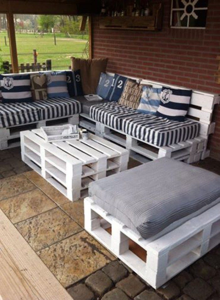 Best ideas about Pallet Patio Furniture . Save or Pin Turn old pallets into patio furniture Now.